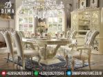 MM-0015 Mebel Terbaru Jepara Set Meja Kursi Makan Mewah Royal