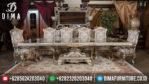 Mebel Klasik Terbaru Set Meja Makan Mewah Travilion Silver MM-0044