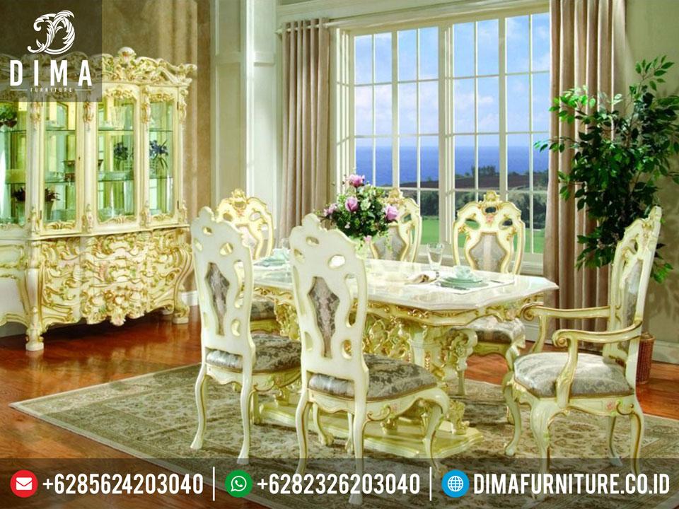 Set Meja Makan Luxury Mewah Minimalis Duco Jepara Mm-0026