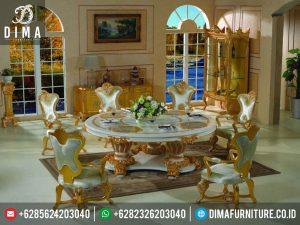 Set Meja Makan Mewah Classic Italian Style Terbaru MM-0035