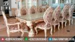 Set Meja Makan Minerva Mewah Klasik Terbaru Mebel Jepara MM-0042