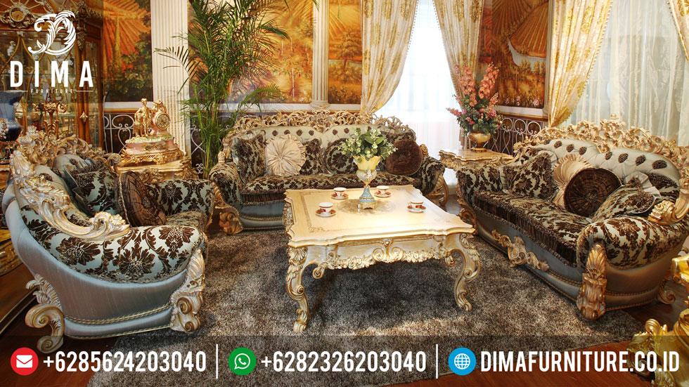 Set Sofa Tamu Brunelo, Sofa Tamu Mewah Brunelo, Set Sofa Mewah Ruang Tamu MM-0045