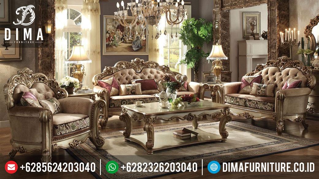 Dima Furniture Set Sofa Tamu Jepara Mewah Terbaru MM-0046