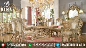 Mebel Klasik Jepara Set Meja Makan Mewah Ivory 6 Kursi MM-0058
