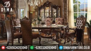 Meja Makan Jepara Mewah, Set Meja Makan Klasik, Meja Makan Terbaru Jati MM-0063