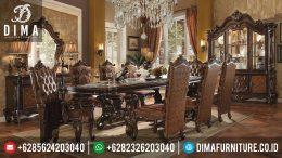 Meja Makan Jepara Terbaru, Set Meja Makan Mewah Jepara, Mebel Klasik Jepara Set Meja Makan MM-0066