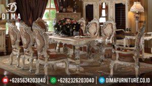 Meja Makan Set Mewah Jepara, Set Meja Makan Klasik Minerva, Meja Makan Mewah Terbaru Minerva MM-0062
