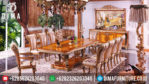 Set Meja Makan Mewah Ukiran Klasik Jepara Duco Terbaru MM-0055