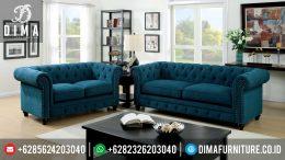 Sofa Tamu Minimalis Mewah Terbaru Standford Dark Blue MM-0069