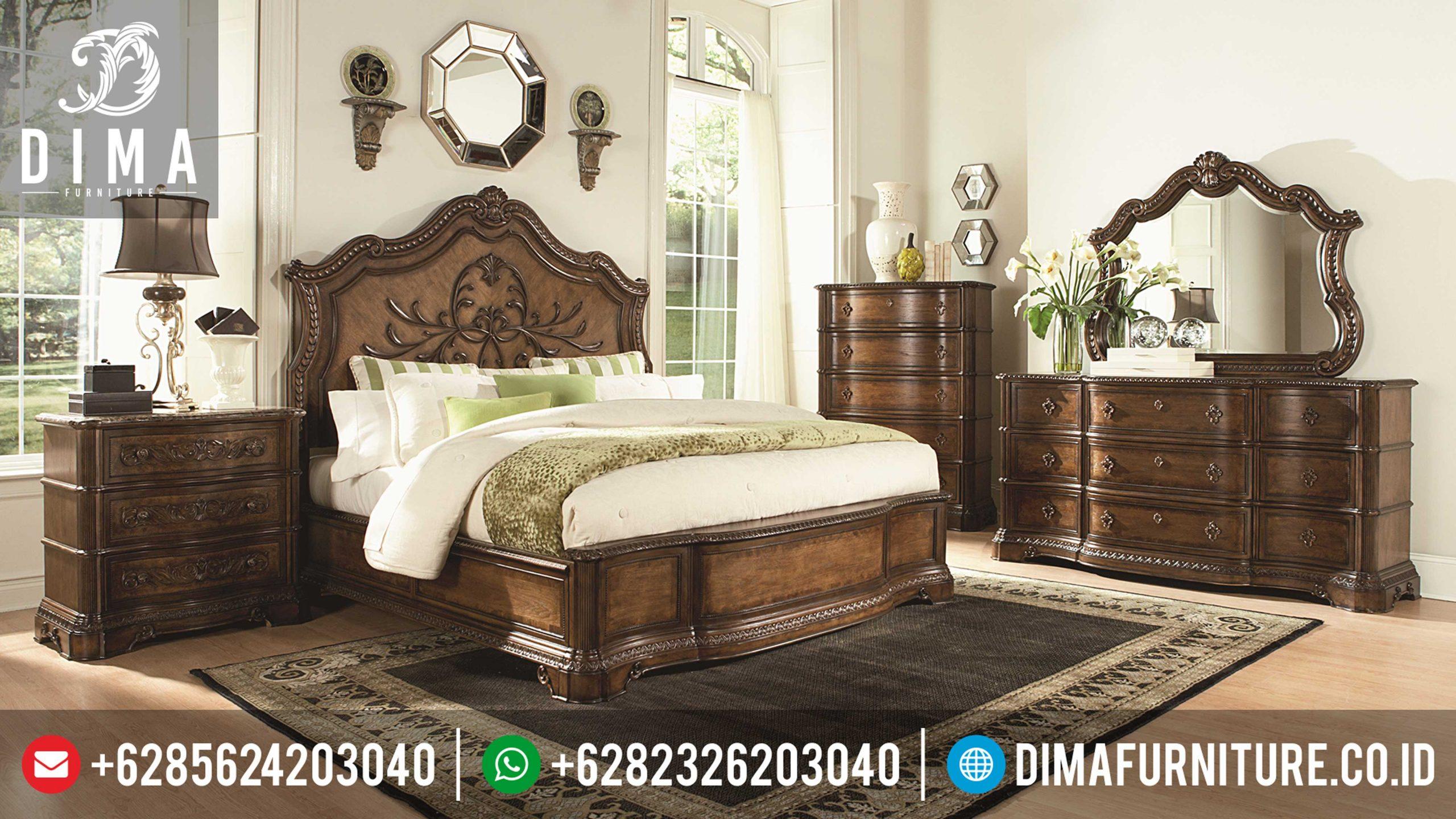 Tempat Tidur Mewah Terbaru, Set Kamar Tidur Jati Jepara, Kamar Set Mewah Jepara Mm-0075