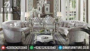 1 Set Sofa Tamu Mewah Terbaru Classic Ivory Mebel Jepara MM-0096
