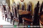 Mebel Jati Jepara Meja Makan Mewah Terbaru Model Kursi Raja MM-0102