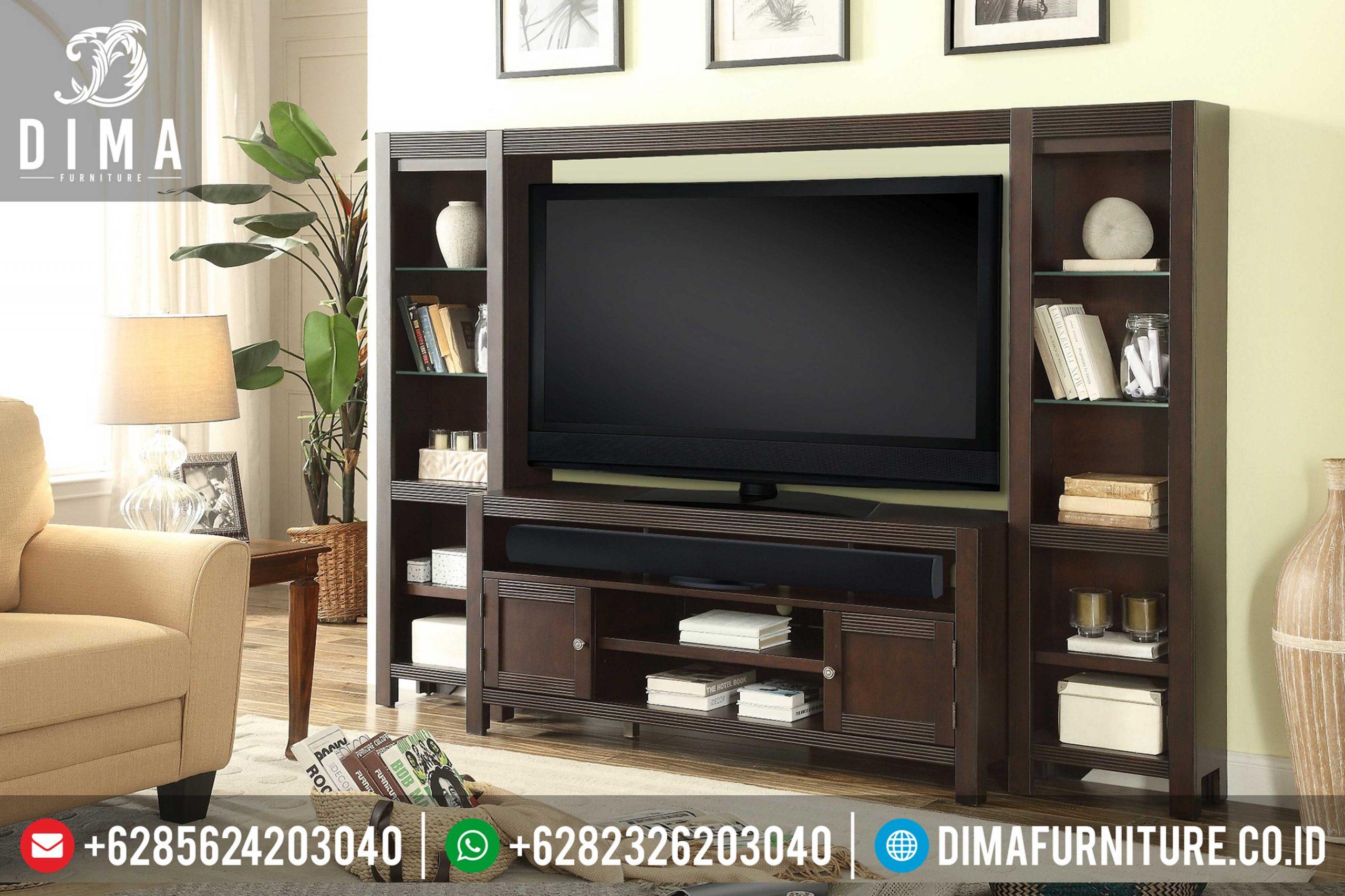 Set Bufet Tv Minimalis Modern Mebel Jati Jepara Terbaru Mm-0099