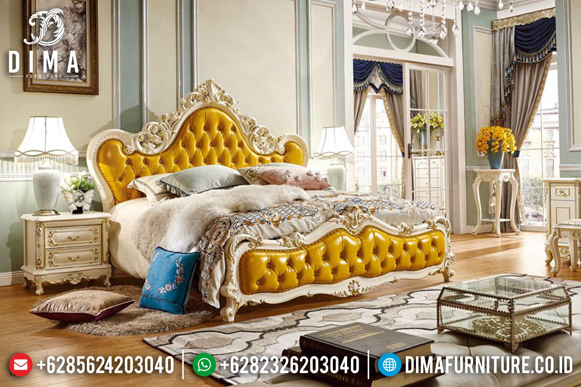 Set Kamar Tidur Mewah Terbaru Jepara Klasik Royal ST-0124
