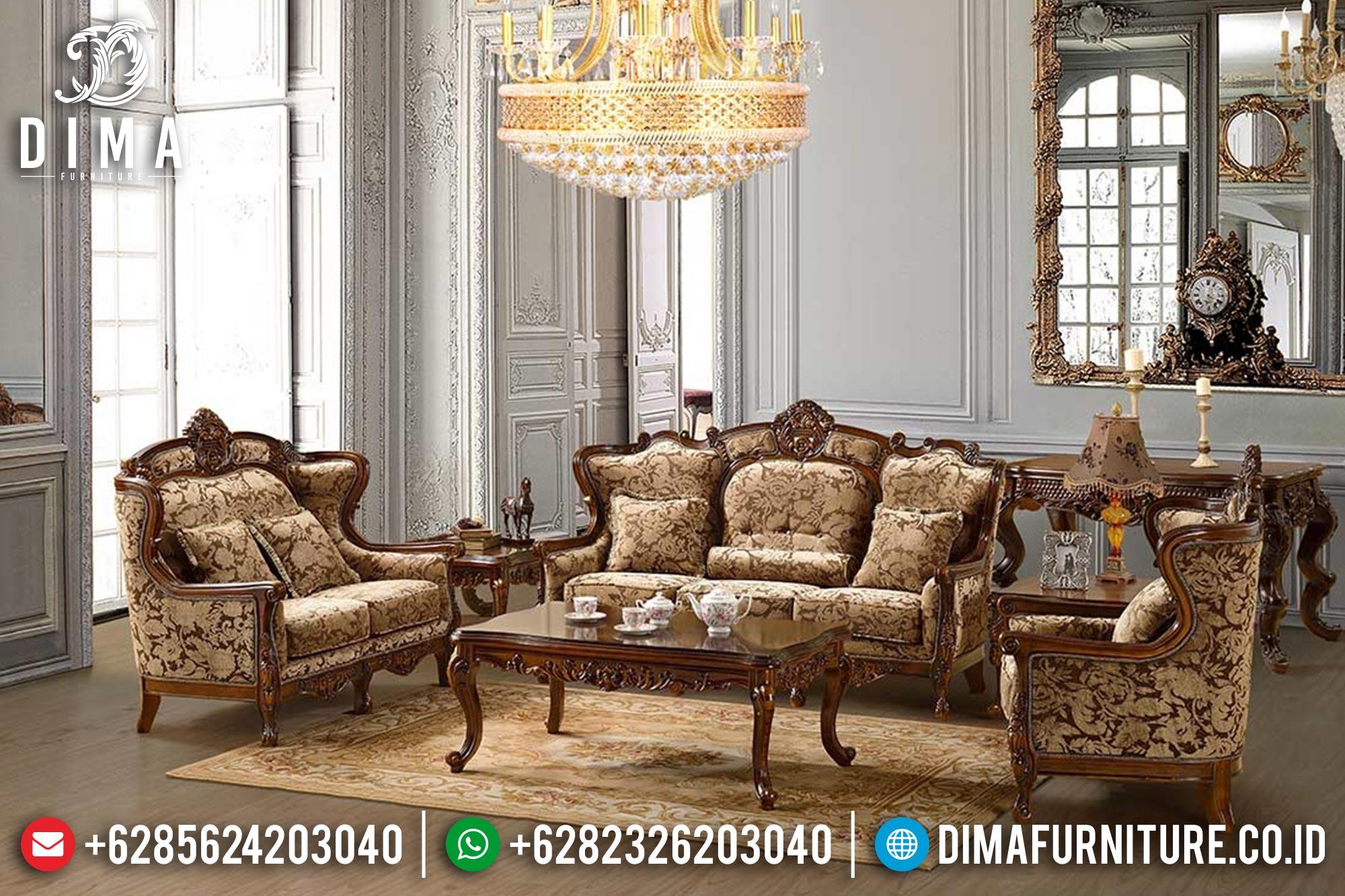 Sofa Tamu Jati Jepara Klasik Mewah Terbaru Mm-0122