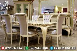 Jual 1 Set Meja Makan Mewah Minimalis Jepara Terbaru MM-0129