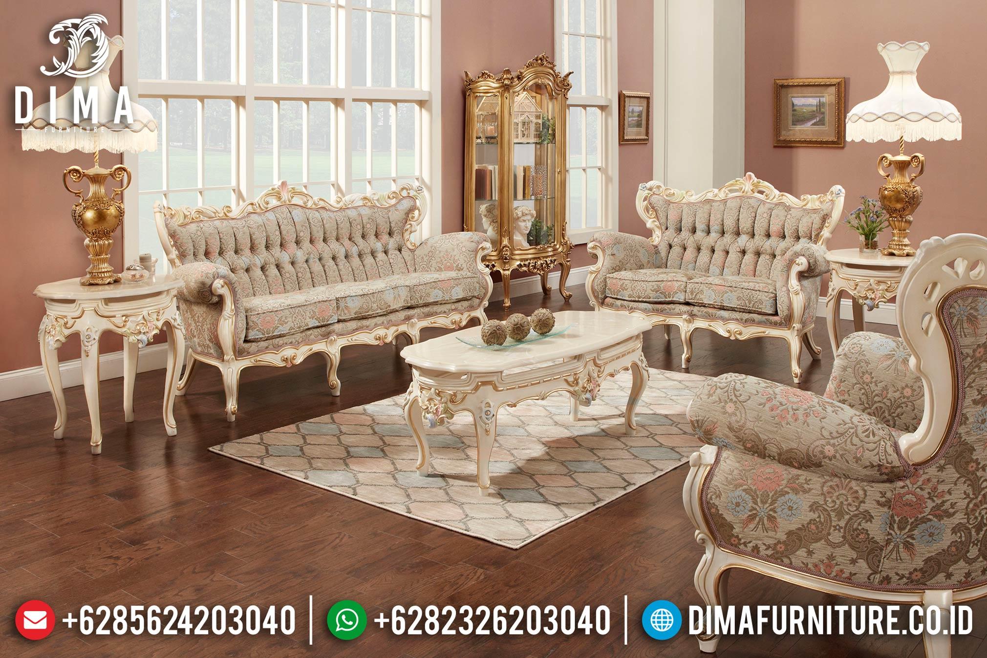 Mebel Ukir Jepara Set Kursi Sofa Ruang Tamu Mewah Terbaru MM-0134