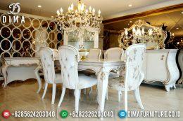 Set Meja Makan Mewah Ukiran Jepara Terbaru Duco Safran MM-0144