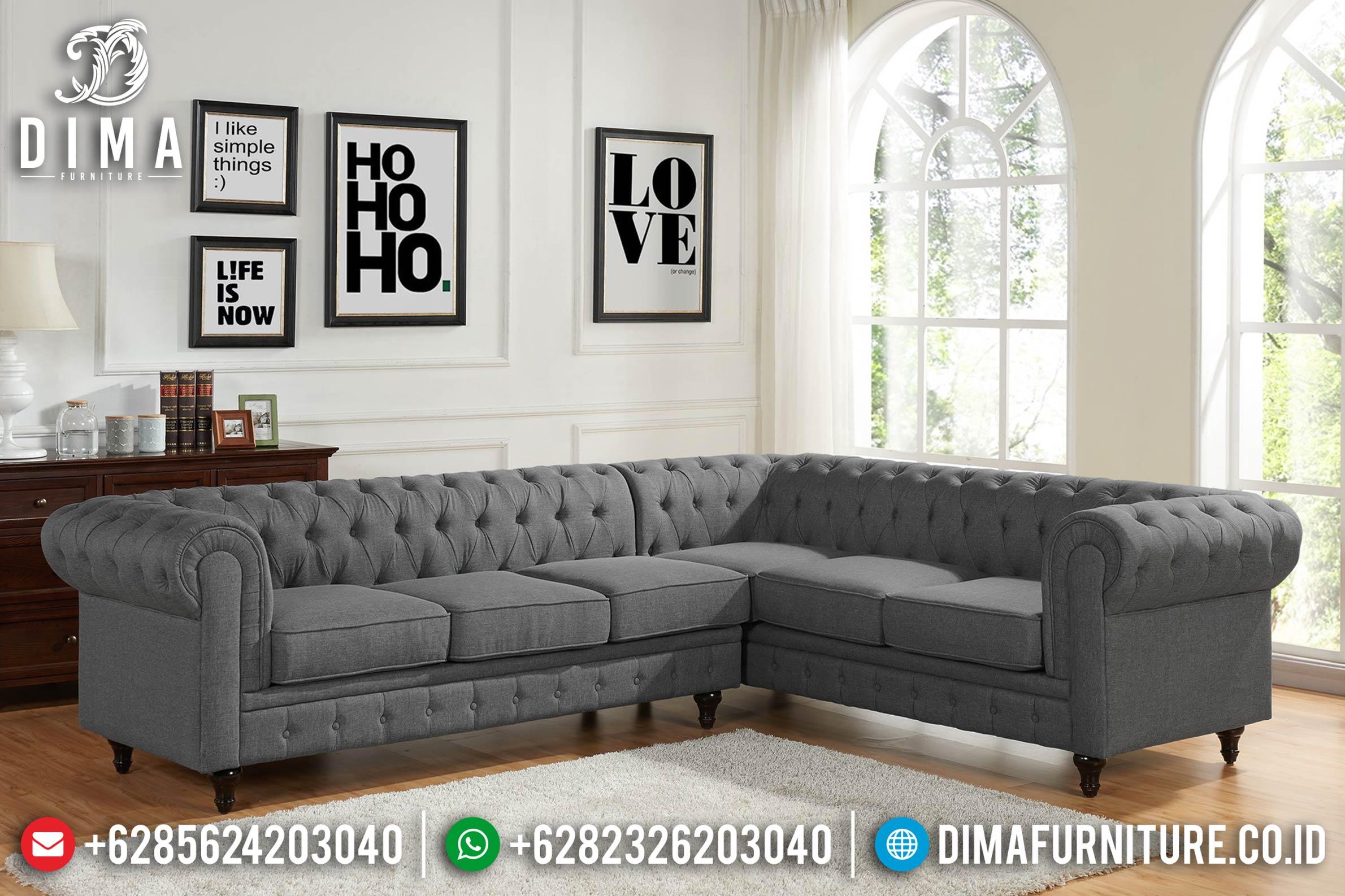 Sofa Tamu Jepara Mewah Minimalis Terbaru Sudut L Chester MM-0145