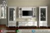 1 Set Bufet Tv Minimalis Jepara Mewah Terbaru Duco Putih Mm-0174