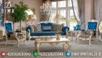 Furniture Terbaru Set Kursi Sofa Tamu Mewah Jepara Duco Ivory Emas MM-0196