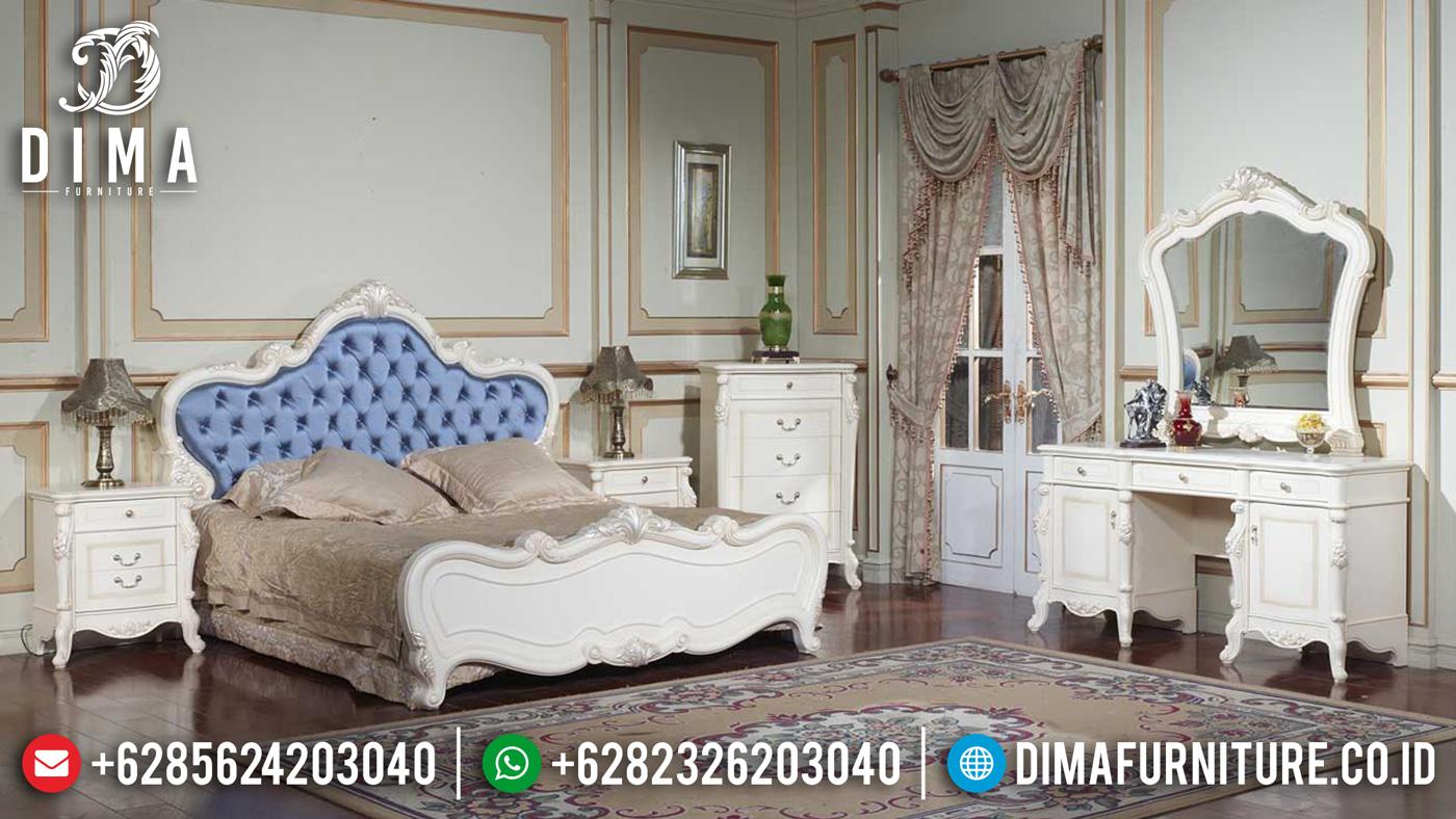 Kamar Set Mewah Duco Putih Silver Mebel Jepara Terbaru MM-0178