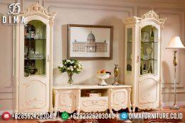 Set Bufet TV Lemari Hias Mewah Jepara Terbaru Duco Ivory MM-0172