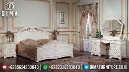 Set Kamar Tidur Mewah Jepara Terbaru Duco Putih Seri Beatreche MM-0179