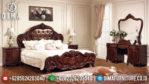 Set Kamar Tidur Mewah, Kamar Set Jati Jepara, Furniture Jepara Terbaru MM-0181