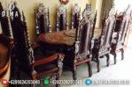 Set Kursi Meja Makan Jati Jepara Mewah Model Raja Terbaru MM-0202