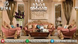 Sofa Tamu Jepara Set Mewah Ukiran Klasik Waldorf Terbaru MM-0167