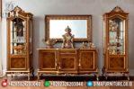 Bufet TV Jati Jepara, Lemari Hias Pajangan Mewah, Bufet TV Mewah Minimalis MM-0223