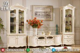 Bufet TV Mewah Jepara, Lemari Hias Duco Putih, Set Buffet TV Minimalis Terbaru MM-0222