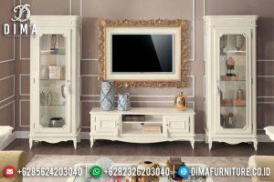 Buffet TV Minimalis Duco Putih, Bufet TV Jepara Terbaru, Lemari Hias Pajangan Mewah MM-0225