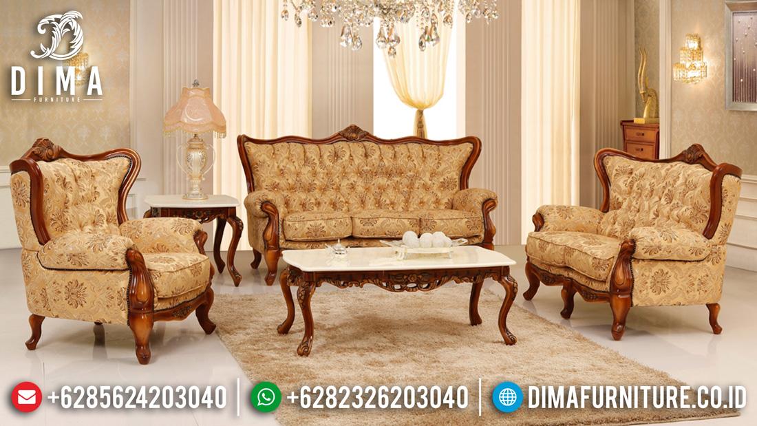 Set Kursi Sofa Tamu Mewah Jati Jepara Ukiran Minimalis Harga Murah Mm-0226