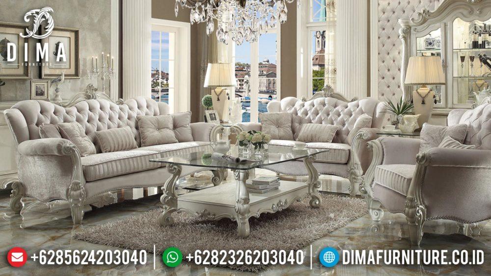 Sofa Mewah Jati Jepara Ukiran Klasik Set Ruang Tamu Terbaru Mm-0212