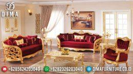 Sofa Tamu Mewah Jepara Ukiran Klasik Cat Duco Emas Terbaru MM-0213