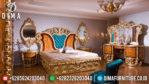 Kamar Set Mewah Terbaru, Set Kamar Tidur Ukiran Mewah, Tempat Tidur Mewah Klasik MM-0233