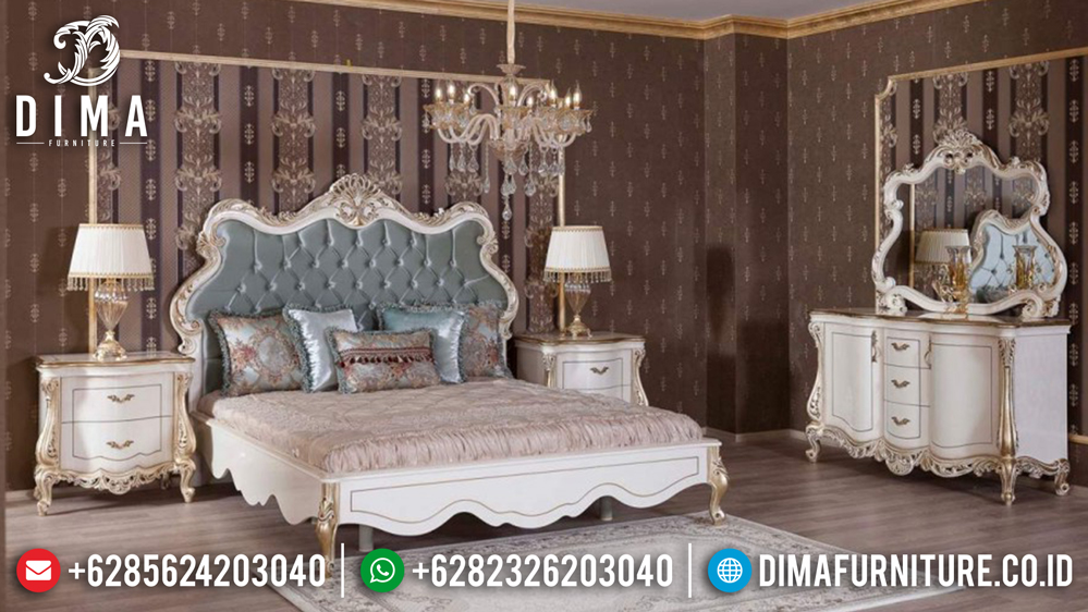 Tempat Tidur Mewah Klasik, Kamar Set Jepara Terbaru, Set Kamar Tidur Mewah MM-0232 Gambar 1