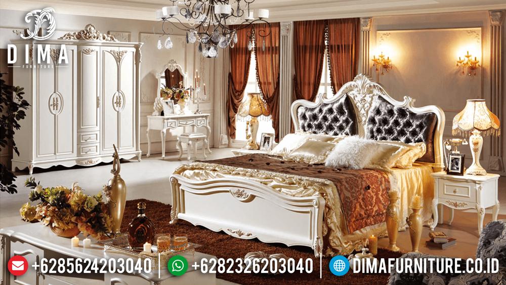 Kamar Set Mewah Terbaru, Set Kamar Tidur Duco Mewah, Tempat Tidur Mewah Klasik MM-0238