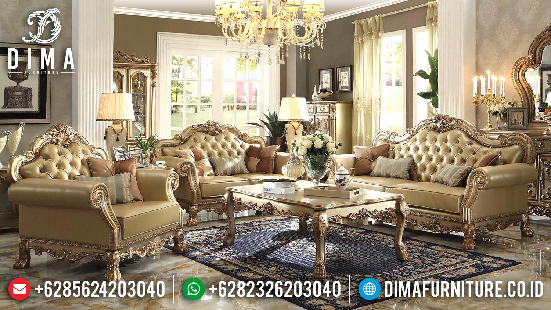 Kursi Sofa Tamu Mewah Jepara Model Klasik Ukiran Eropa Terbaru Duco Emas MM-0244