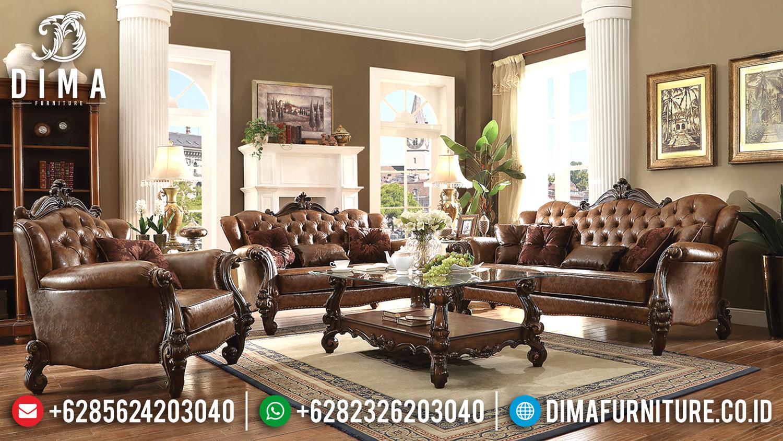 Kursi Sofa Tamu Mewah Jepara Terbaru Ukiran Klasik Jati Awesome MM-0242