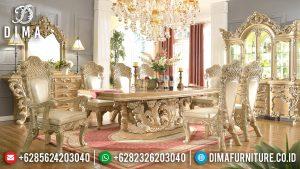 Mebel Jepara Terbaru Set Meja Makan Mewah Klasik Luxury European Style MM-0247