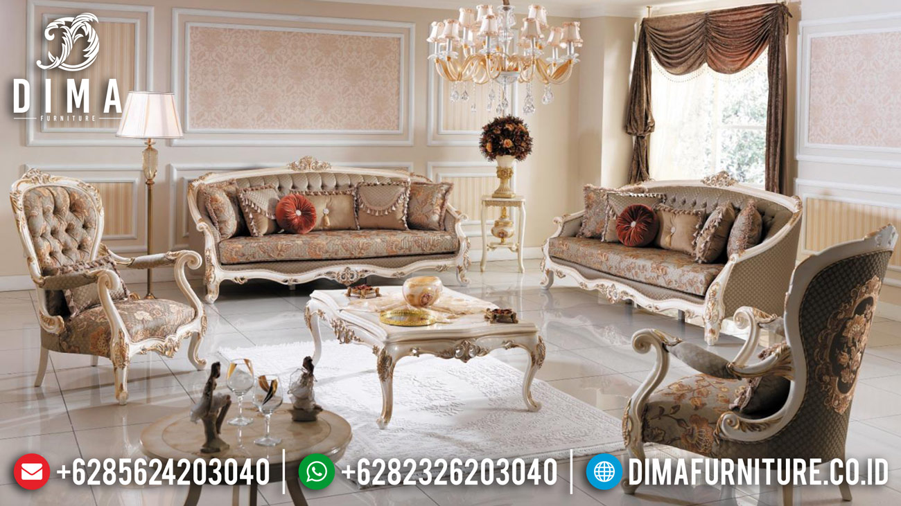Set Sofa Tamu Jepara Mewah Ukiran Klasik Terbaru Harga Murah MM-0235