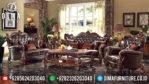 Set Sofa Tamu Jepara Ukiran Klasik Mewah Jati Style Eropa Terbaru MM-0243