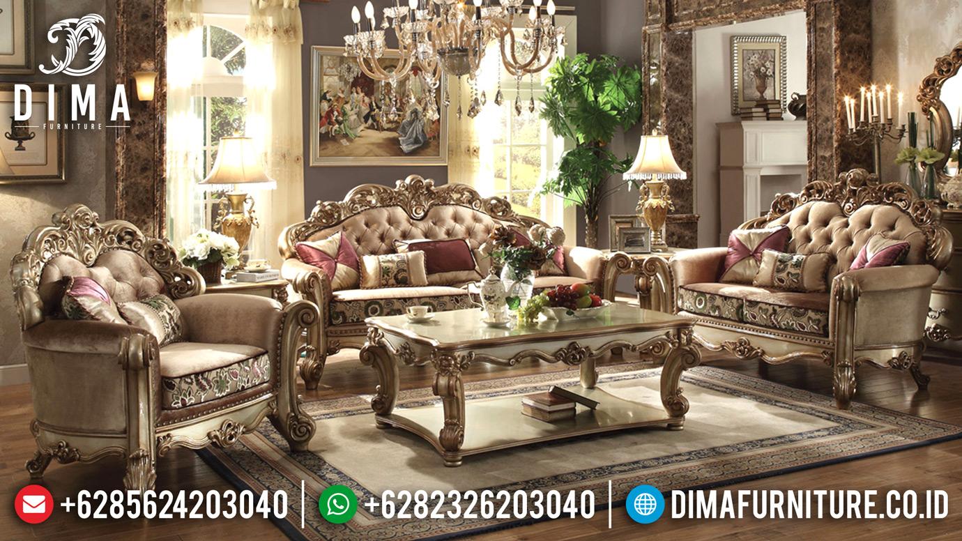 Sofa Tamu Jepara Terbaru, Kursi Tamu Mewah Klasik, Sofa Mewah Gaya Eropa MM-0245
