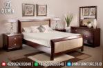 Kamar Set Mewah Minimalis Jati Jepara Natural Model Terbaru 2018 MM-0250