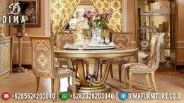 Luxury Furniture Set Meja Makan Mewah Jepara Duco Emas Silver MM-0257
