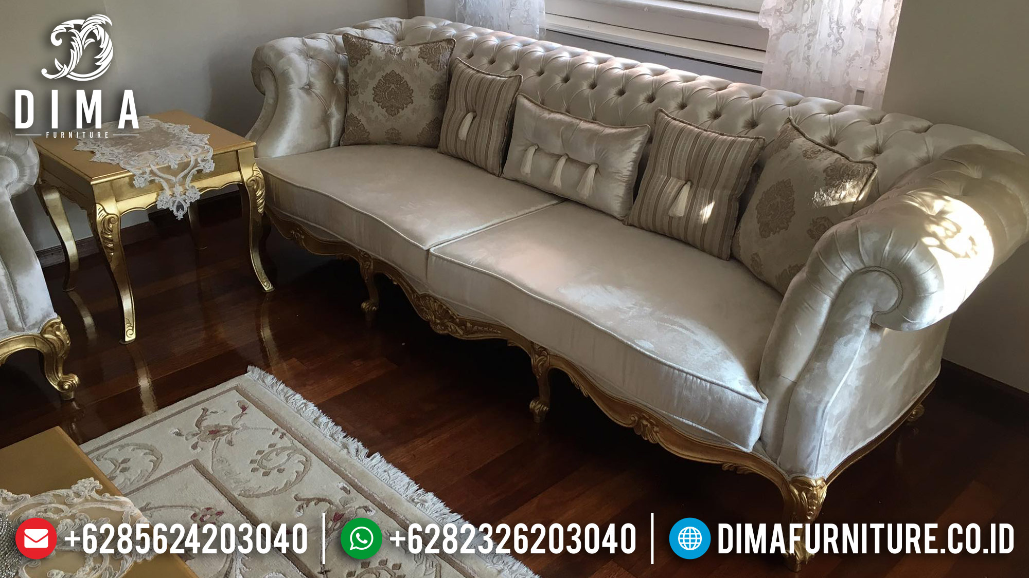 Mebel Jepara Set Kursi Sofa Tamu Mewah Luxury Arabian MM-0258 Gambar 2