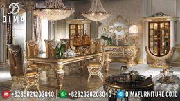 Set Meja Makan Mewah Klasik Jepara Terbaru Alexandro MM-0256